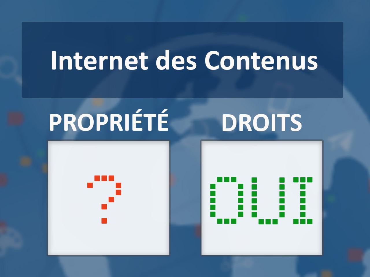 La propriété des contenus sur internet