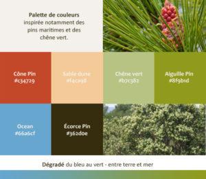 Palette de couleurs - Gites de l'Écureuil