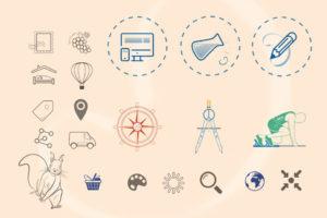 Planche d'illustrations SVG