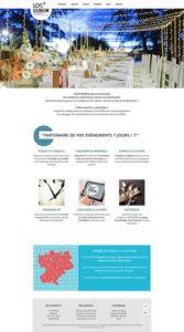 Aperçu de la page d'accueil Loc'dunum