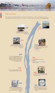 Rendu final frise chronologique site des Mariniers